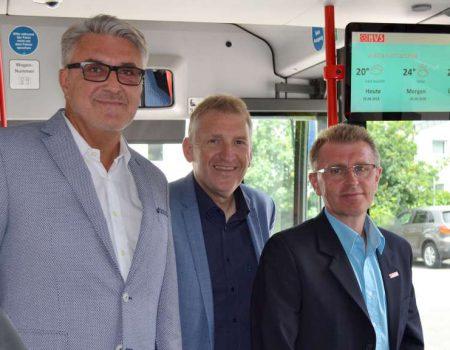 Fahrgast-TV jetzt auch in den Bussen der KVS GmbH